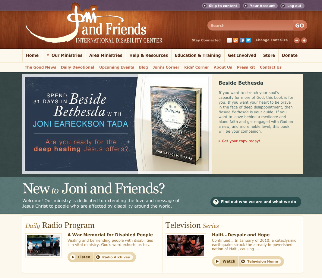Joni and Friends website