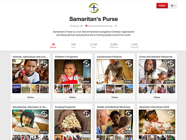 SAMARITAN'S PURSE PINTEREST